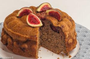 Photo de recette de gâteau aux figues, noix, facile, rapide de Kilomètre-0, blog de cuisine réalisée à partir de produits locaux et issus de circuits courts