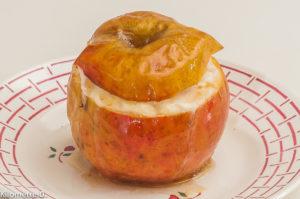 Photo de recette facile, originale, pomme au four, riz au lait, pommes farcies de Kilomètre-0, blog de cuisine réalisée à partir de produits locaux et issus de circuits courts