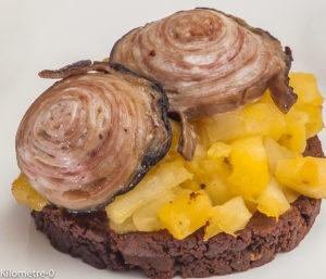 Photo de recette de farz de chikolodenn, andouille, pomme, cuisine bretonne,  Kilomètre-0, blog de cuisine réalisée à partir de produits locaux et issus de circuits courts