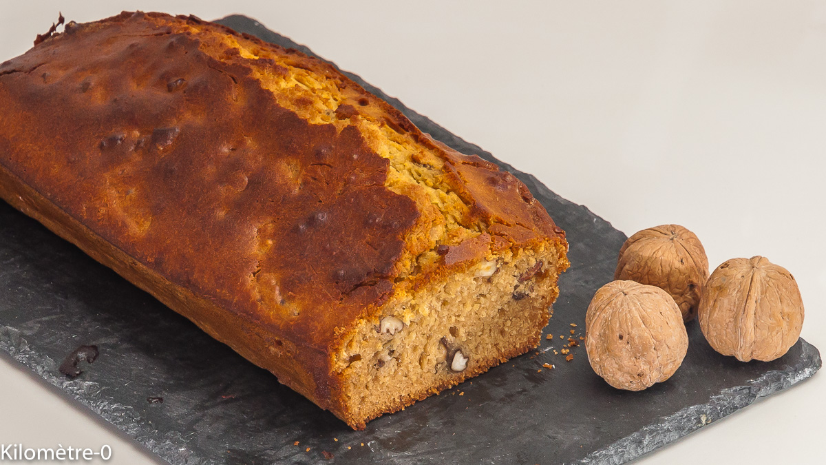Photo de recette de gâteau, noix, miel de Kilomètre-0, blog de cuisine réalisée à partir de produits locaux et issus de circuits courts