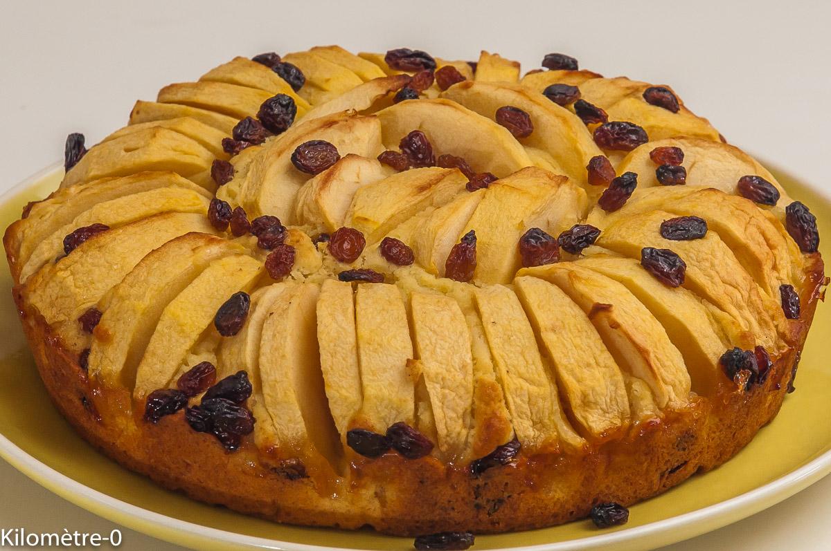Photo de recette de gâteau, pommes, raisins de Kilomètre-0, blog de cuisine réalisée à partir de produits locaux et issus de circuits courts
