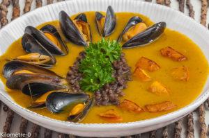 Photo de recette de soupe potimarron, moules, courgettes, lentilles de  Kilomètre-0, blog de cuisine réalisée à partir de produits locaux et issus de circuits courts