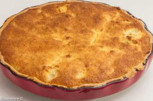 Photo de recette de tarte poire coco de Kilomètre-0, blog de cuisine réalisée à partir de produits locaux et issus de circuits courts