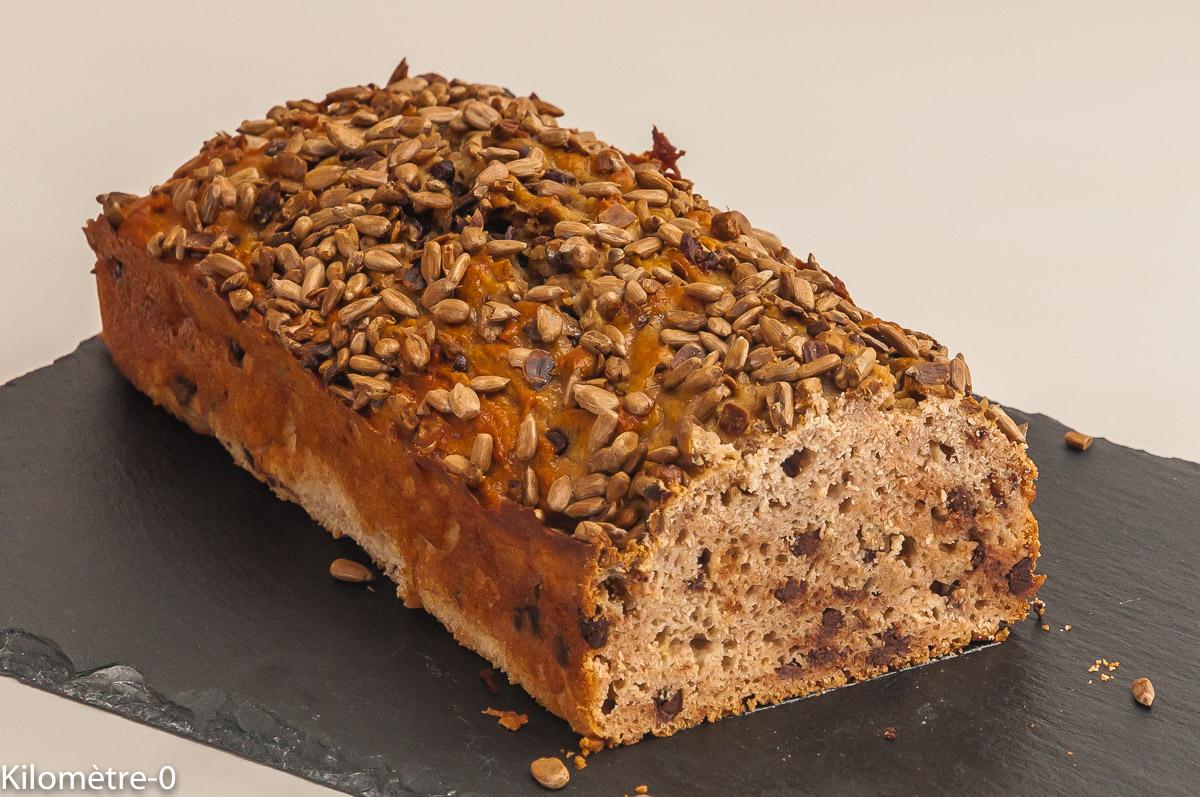 Photo de recette de  gâteau du matin, châtaignes, ricotta, pépites de chocolat de Kilomètre-0, blog de cuisine réalisée à partir de produits locaux et issus de circuits courts