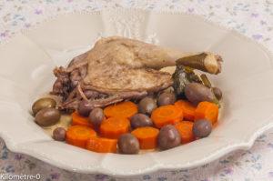 Photo de recette de canard, olives, facile, de Kilomètre-0, blog de cuisine réalisée à partir de produits locaux et issus de circuits courts
