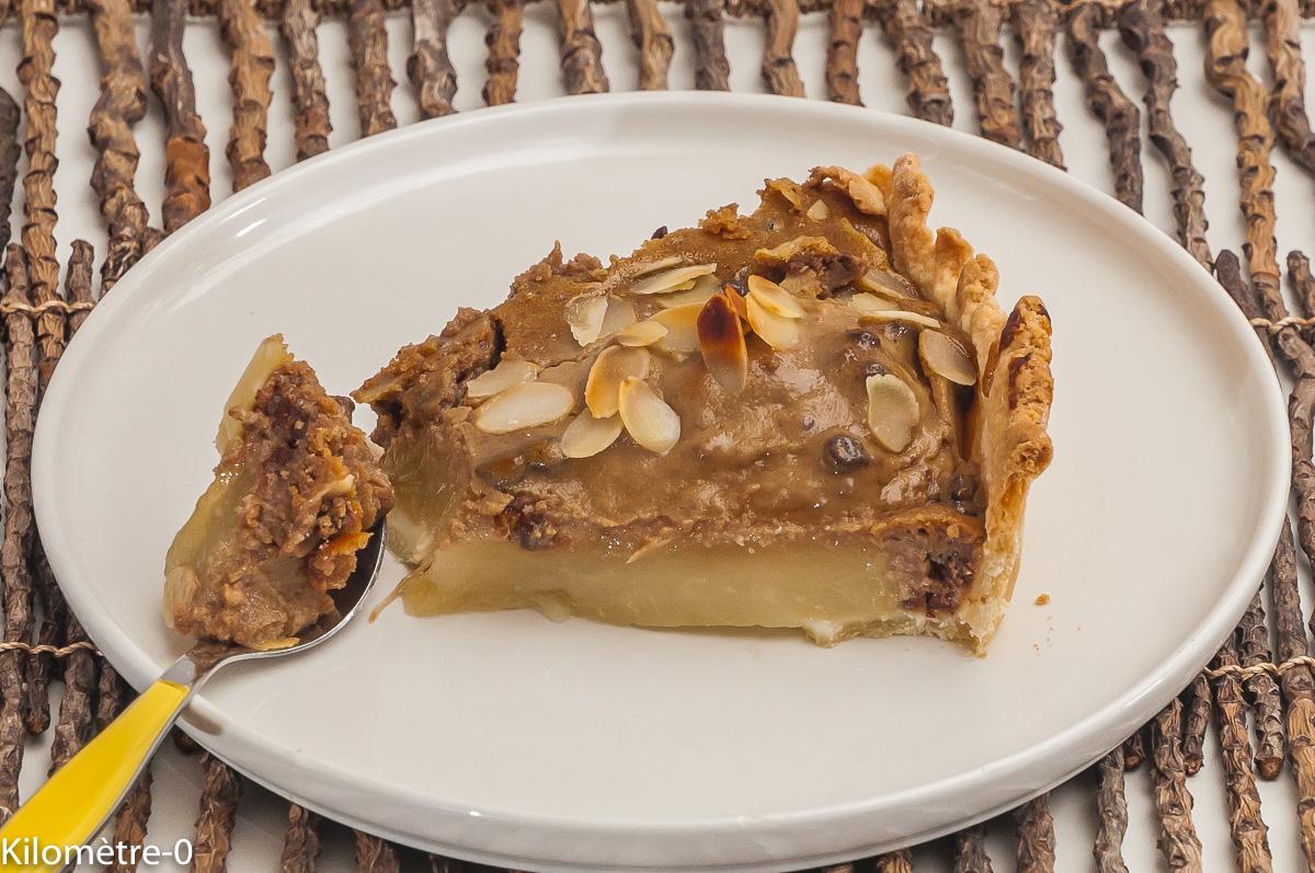 Photo de recette de tarte poire, chocolat, marron de Kilomètre-0, blog de cuisine réalisée à partir de produits locaux et issus de circuits courts