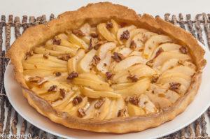 Photo de recette de tarte, chource, poires, facile, rapide de Kilomètre-0, blog de cuisine réalisée à partir de produits locaux et issus de circuits courts