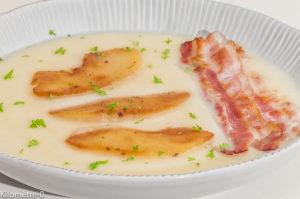 Photo de recette de soupe, céleri, poitrine, pommes de Kilomètre-0, blog de cuisine réalisée à partir de produits locaux et issus de circuits courts
