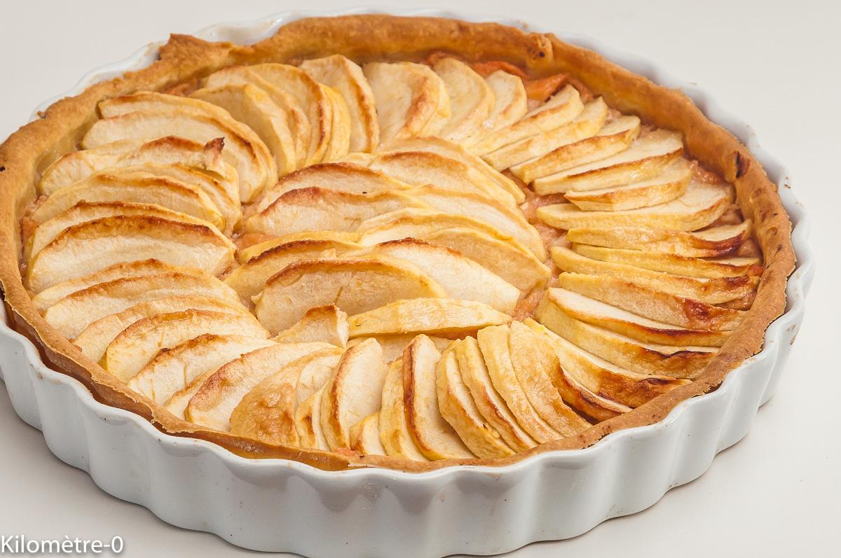 Photo de recette de tarte pommes, coing, facile, bio de  Kilomètre-0, blog de cuisine réalisée à partir de produits locaux et issus de circuits courts