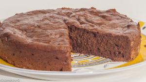 Photo de recette de fondant, chocolat, châtaignes, marron, moelleux, bio de Kilomètre-0, blog de cuisine réalisée à partir de produits locaux et issus de circuits courts