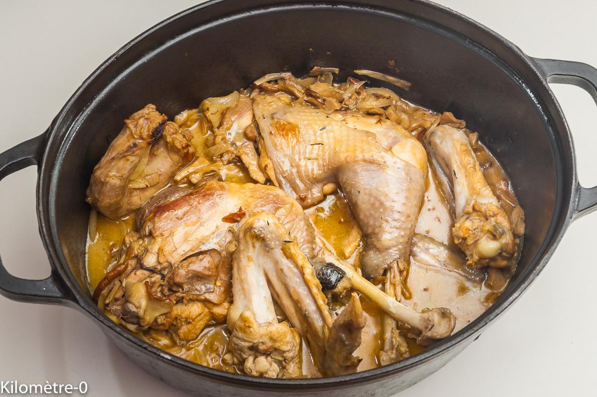 Photo de recette de poulet vallée d'Auge, cèpes, pommes de Kilomètre-0, blog de cuisine réalisée à partir de produits locaux et issus de circuits courts