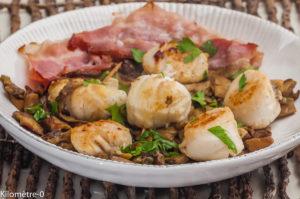 Photo de recette de saint jacques, cèpes, soles, poitrine de Kilomètre-0, blog de cuisine réalisée à partir de produits locaux et issus de circuits courts