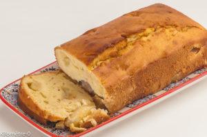 Photo de recette de cake aux poires, bio, vanille, de  Kilomètre-0, blog de cuisine réalisée à partir de produits locaux et issus de circuits courts