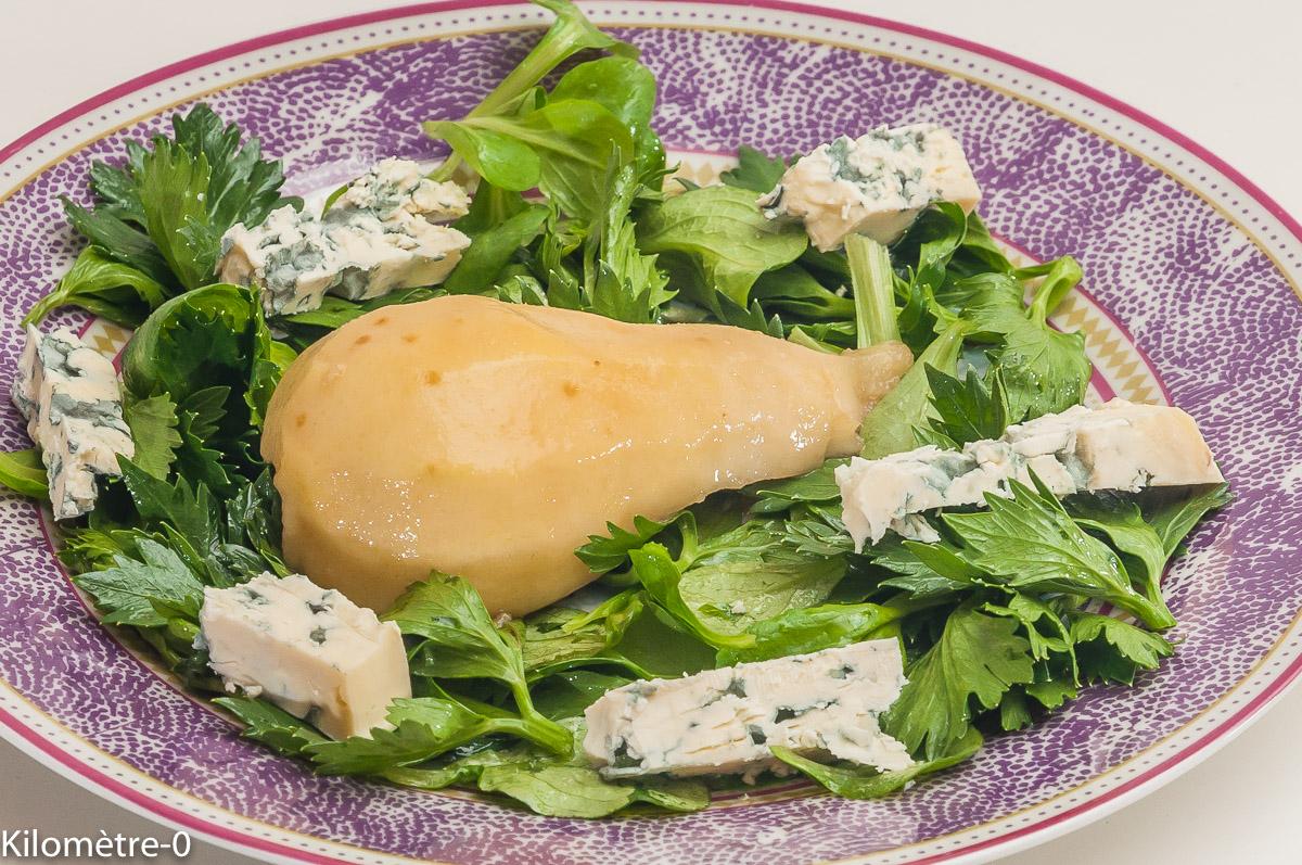 Photo de recette de salade, poire, fourme d'Ambert, facile, rapide, automne de Kilomètre-0, blog de cuisine réalisée à partir de produits locaux et issus de circuits courts