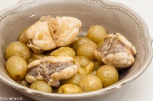 Photo de recette de lotte, raisins de  Kilomètre-0, blog de cuisine réalisée à partir de produits locaux et issus de circuits courts
