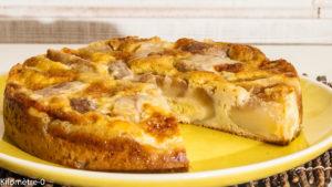 Photo de recette de gâteau aux poires de Kilomètre-0, blog de cuisine réalisée à partir de produits locaux et issus de circuits courts