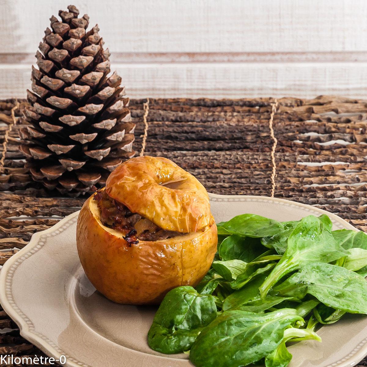 Photo de recette de pomme, farci, échine, de Kilomètre-0, blog de cuisine réalisée à partir de produits locaux et issus de circuits courts