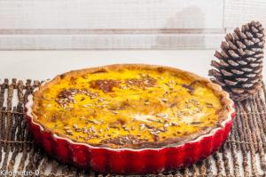 Photo de recette de quiche, tarte, butternut, cèpes, de Kilomètre-0, blog de cuisine réalisée à partir de produits locaux et issus de circuits courts