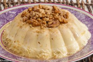 Photo de recette de bavarois aux noix de Kilomètre-0, blog de cuisine réalisée à partir de produits locaux et issus de circuits courts
