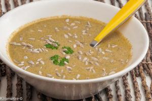 Photo de recette de soupe de moules, graines de tournesol de Kilomètre-0, blog de cuisine réalisée à partir de produits locaux et issus de circuits courts