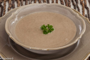 Photo de recette de velouté, champignons, Anjou, Kilomètre-0, blog de cuisine réalisée à partir de produits locaux et issus de circuits courts