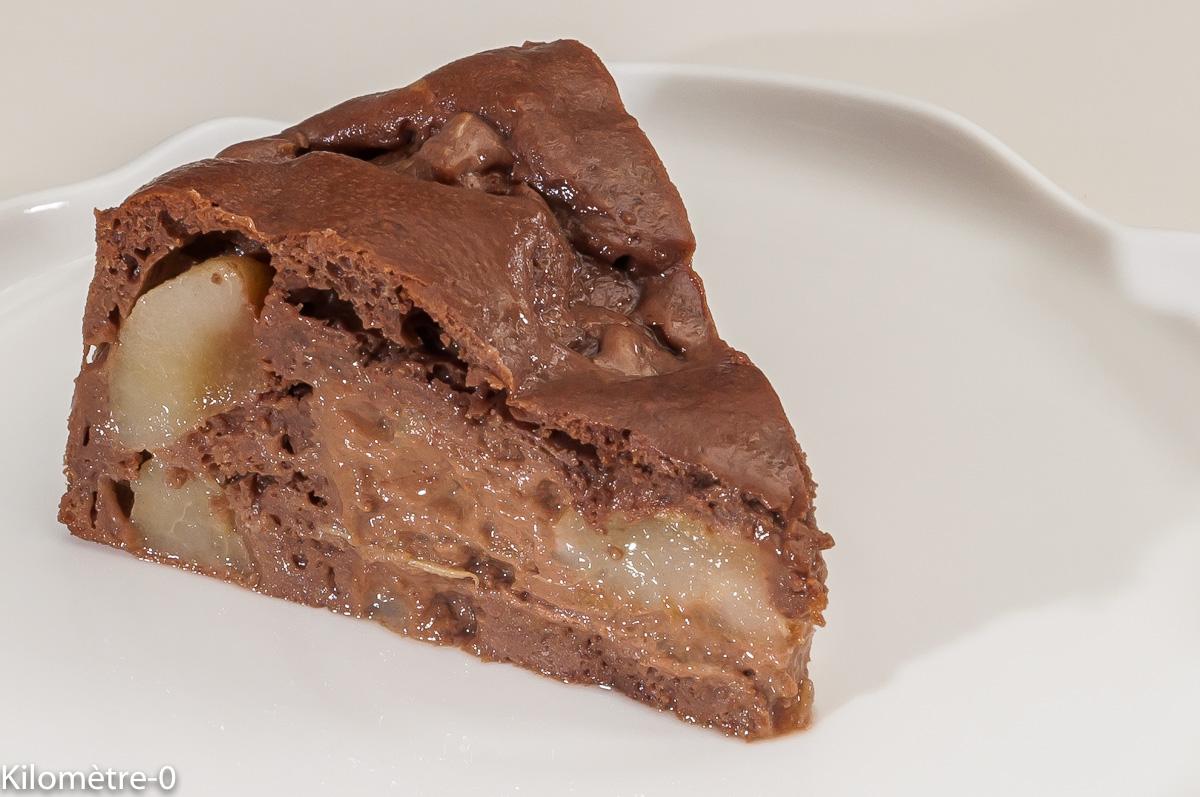Photo de recette de fondant, poires, léger, dessert, bio de Kilomètre-0, blog de cuisine réalisée à partir de produits locaux et issus de circuits courts
