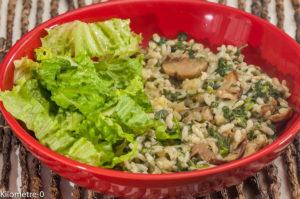 Photo de recette de risotto, cèpes, champignons, orties, bio de Kilomètre-0, blog de cuisine réalisée à partir de produits locaux et issus de circuits courts