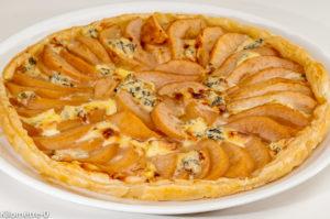 Photo de recette de tarte, poires, fourme d'Ambert, de Kilomètre-0, blog de cuisine réalisée à partir de produits locaux et issus de circuits courts