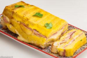 Photo de recette de croque cake, pain de mie, jambon, fromage de Kilomètre-0, blog de cuisine réalisée à partir de produits locaux et issus de circuits courts
