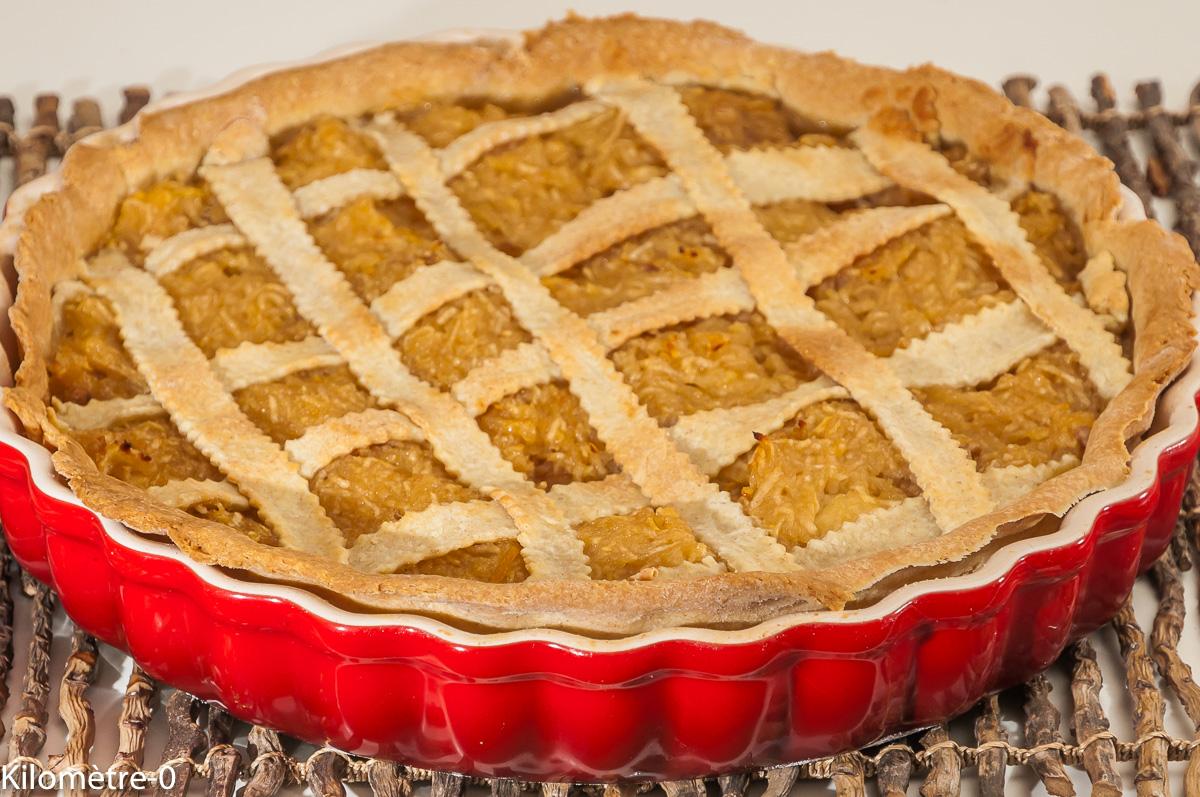 Photo de recette de dessert automnal, fruits, tarte aux pommes, croisillon, bio,facile, rapide, healthy,  de Kilomètre-0, blog de cuisine réalisée à partir de produits locaux et issus de circuits courts