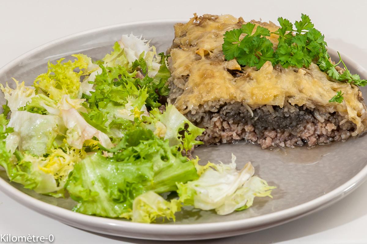 Photo de recette de gâteau de pomme de terre, saucisse, oignons de  Kilomètre-0, blog de cuisine réalisée à partir de produits locaux et issus de circuits courts