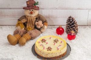 Photo de recette de cheesecake, Noël, spéculoos, fromage grec de Kilomètre-0, blog de cuisine réalisée à partir de produits locaux et issus de circuits courts