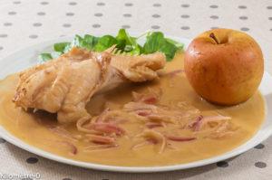 Photo de recette de lotte, cidre, crème, pomme, poisson de Kilomètre-0, blog de cuisine réalisée à partir de produits locaux et issus de circuits courts