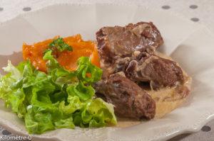 Photo de recette de joue de porc, patate douce, cidre Kerné de Kilomètre-0, blog de cuisine réalisée à partir de produits locaux et issus de circuits courts
