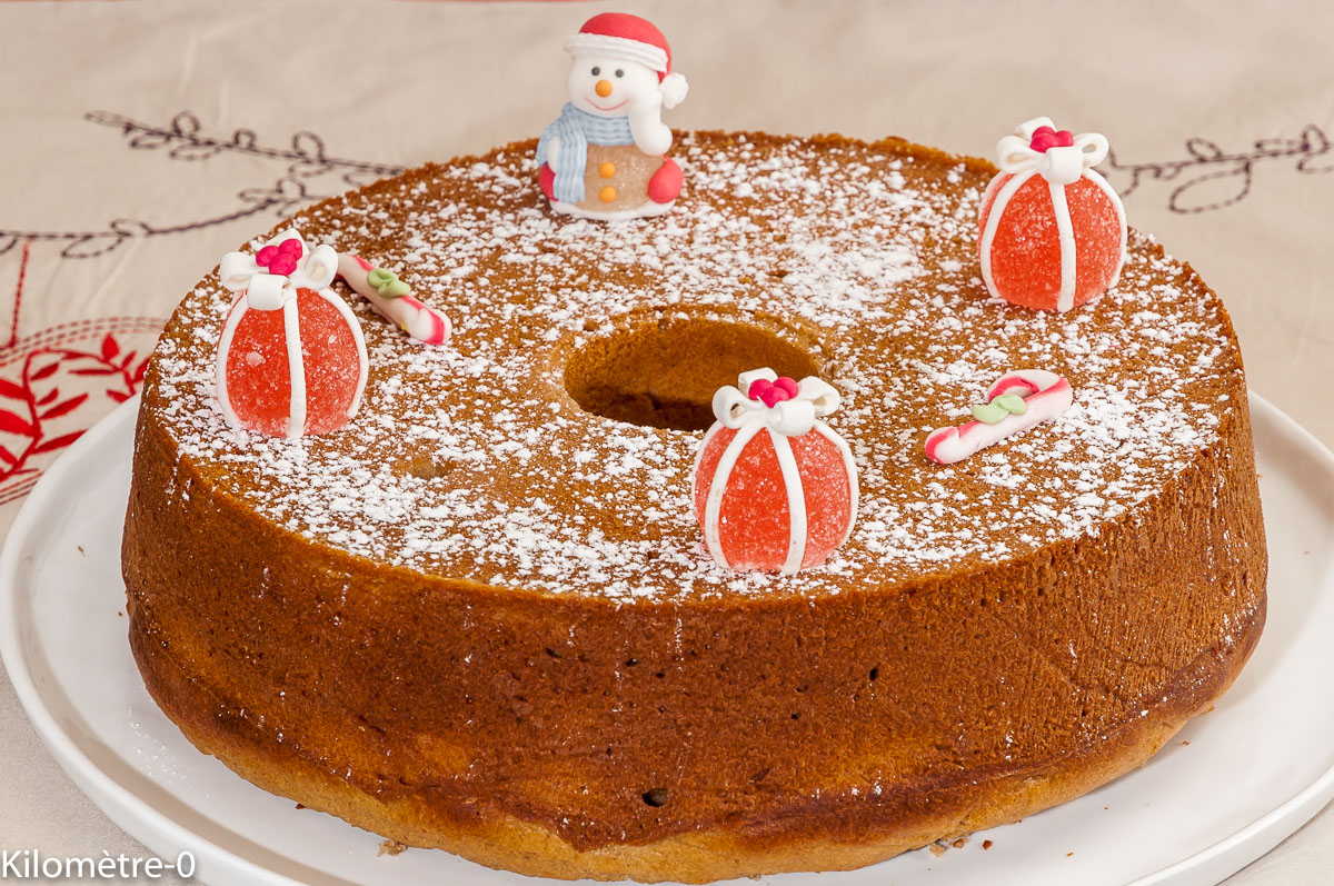 Photo de recette de gâteau du matin, cake, Noël, de  Kilomètre-0, blog de cuisine réalisée à partir de produits locaux et issus de circuits courts