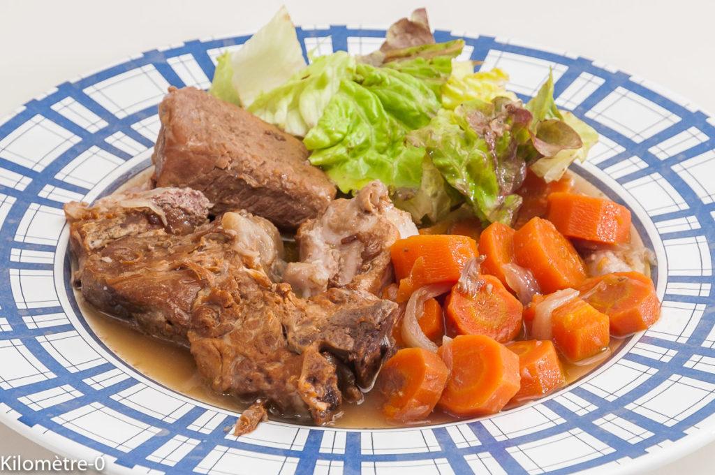 Photo de recette de porc, carotte, cidre, de Kilomètre-0, blog de cuisine réalisée à partir de produits locaux et issus de circuits courts