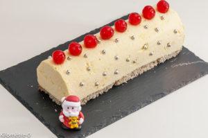 Photo de recette de bûche glacée, citron bio, Noël  de Kilomètre-0, blog de cuisine réalisée à partir de produits locaux et issus de circuits courts