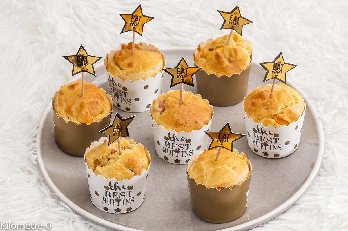 Photo de recette de muffin, Noël, jambon, mimolette de Kilomètre-0, blog de cuisine réalisée à partir de produits locaux et issus de circuits courts