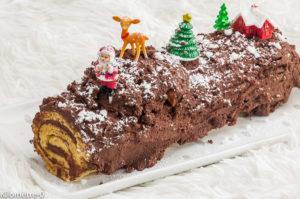 Photo de recette de bûche, chocolat, rhum de Kilomètre-0, blog de cuisine réalisée à partir de produits locaux et issus de circuits courts