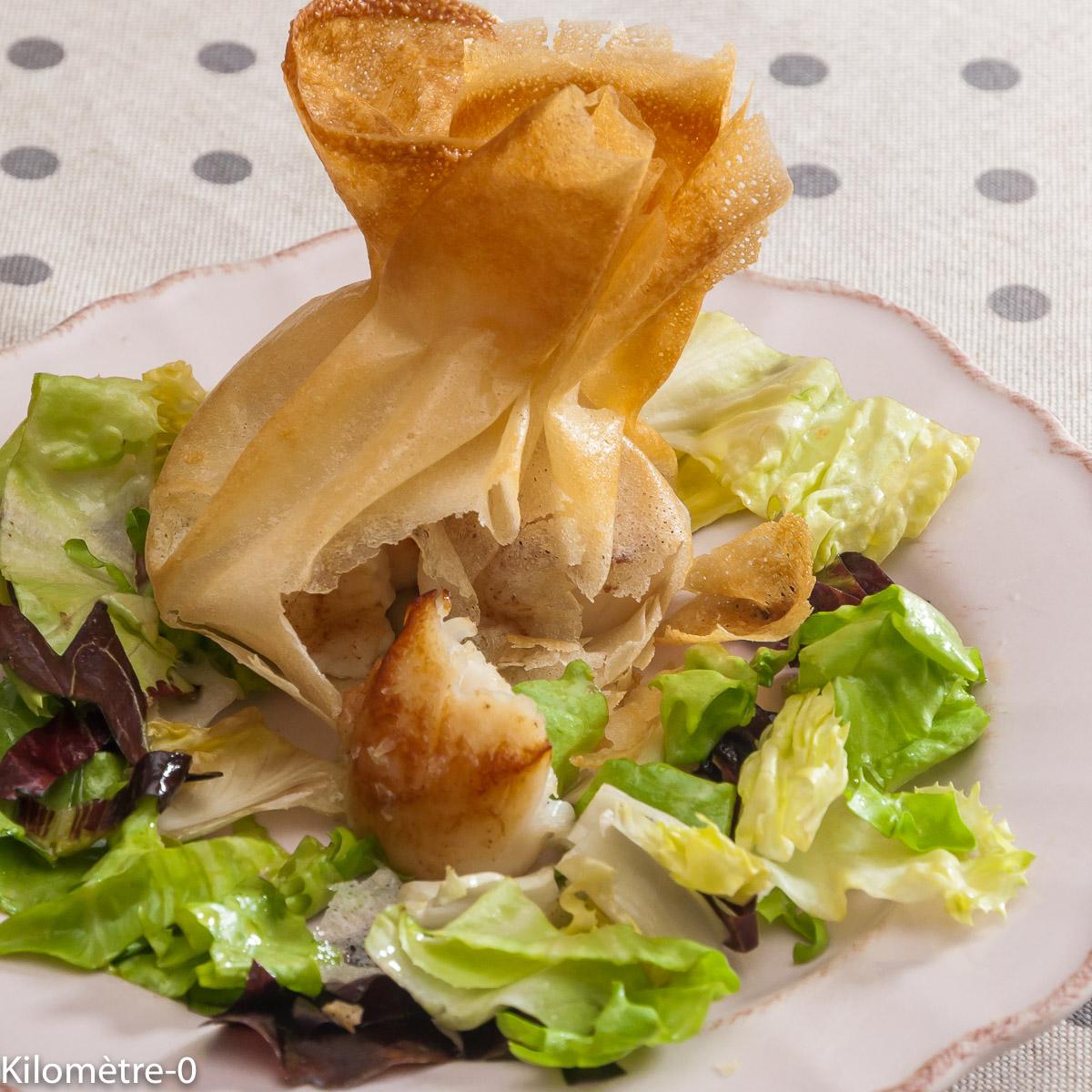 Photo de recette de brik saint jacques facile de Kilomètre-0, blog de cuisine réalisée à partir de produits locaux et issus de circuits courts