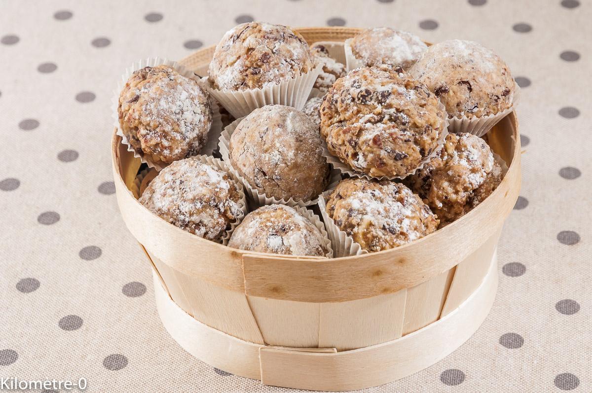 Photo de recette de boules au chocolat, biscuits, gâteaux, alsaciens, amandes bio de Kilomètre-0, blog de cuisine réalisée à partir de produits locaux et issus de circuits courts
