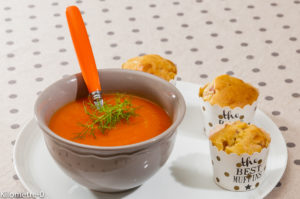 Photo de recette de soupe, carottes, orange, miel de  Kilomètre-0, blog de cuisine réalisée à partir de produits locaux et issus de circuits courts