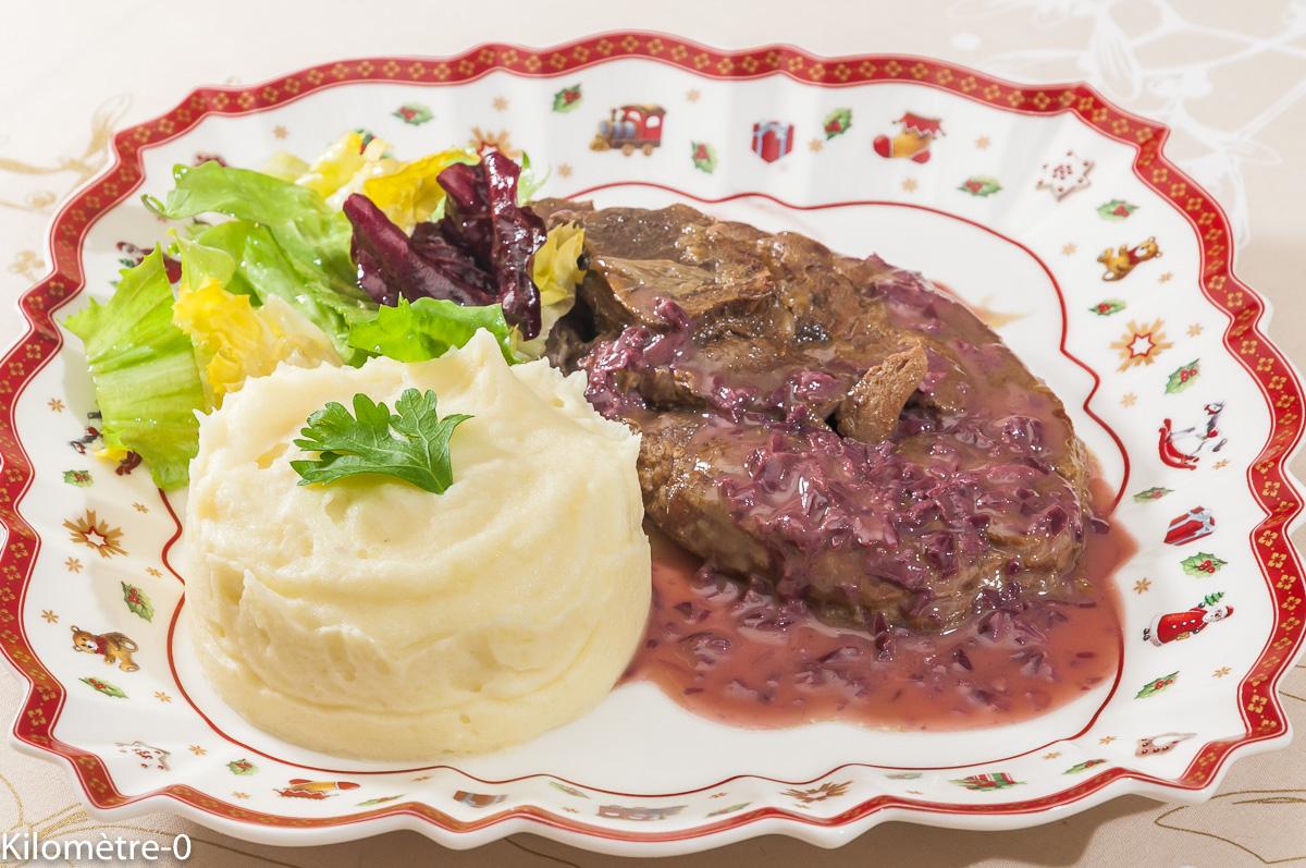 Photo de recette de daguet, beurre rouge, purée , cerf, vin de  Kilomètre-0, blog de cuisine réalisée à partir de produits locaux et issus de circuits courts