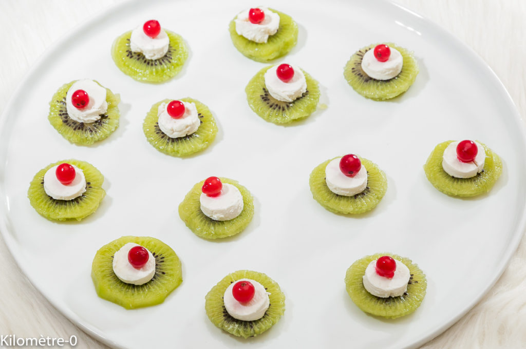Photo de recette de kiwis, chèvre, apéro de Kilomètre-0, blog de cuisine réalisée à partir de produits locaux et issus de circuits courts