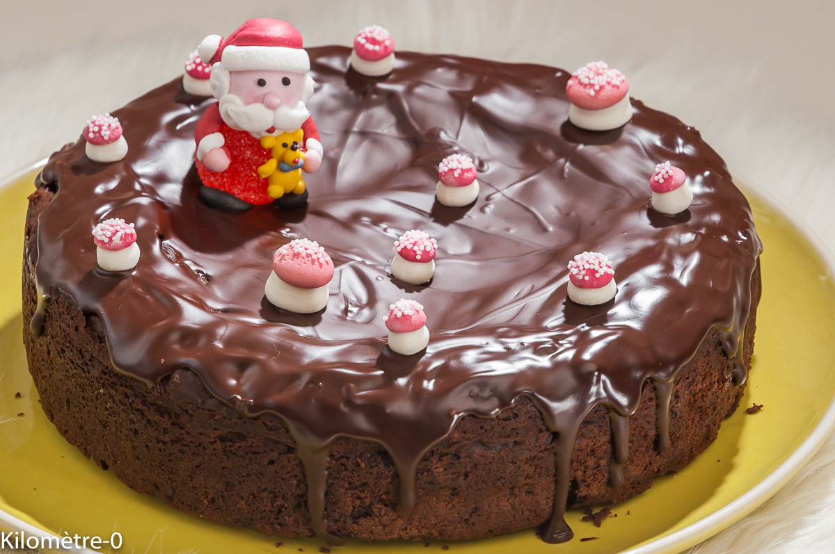 Photo de recette de gâteau, chocolat, marrons, Noël, facile, rapide de Kilomètre-0, blog de cuisine réalisée à partir de produits locaux et issus de circuits courts