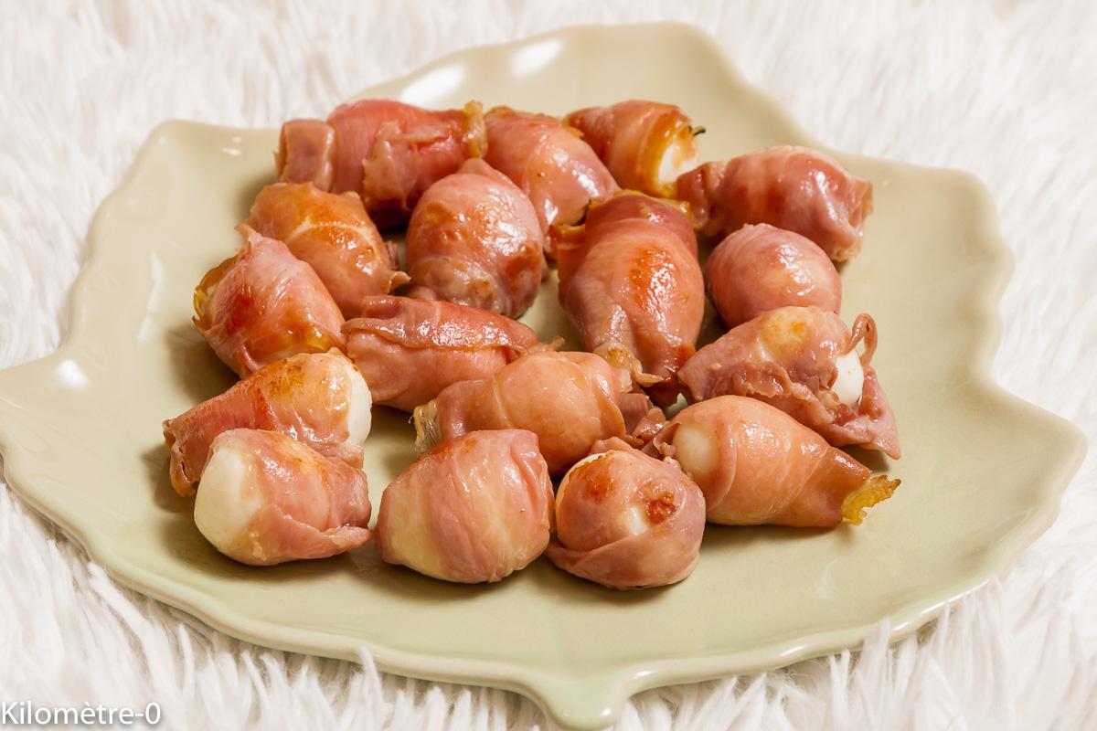 Photo de recette d'oeuf de caille, jambon de Parme, apéro facile, rapide,  Kilomètre-0, blog de cuisine réalisée à partir de produits locaux et issus de circuits courts
