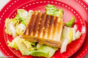 Photo de recette de croque monsieur, jambon, fromage, purée de patate douce deKilomètre-0, blog de cuisine réalisée à partir de produits locaux et issus de circuits courts