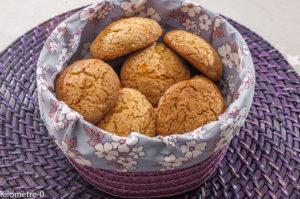 Photo de recette de cookies, orange, miel de Kilomètre-0, blog de cuisine réalisée à partir de produits locaux et issus de circuits courts