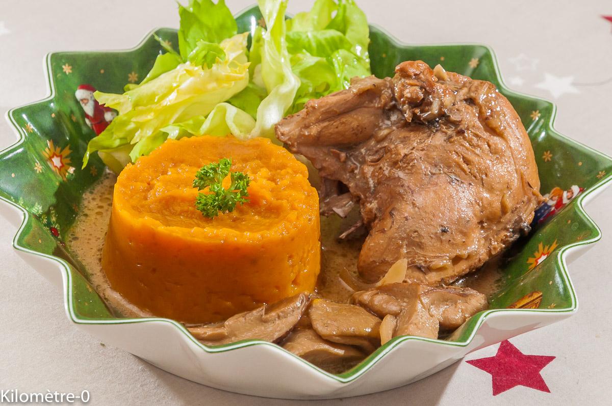 Photo de recette de faisan, cèpes, gibier, patate douce de Kilomètre-0, blog de cuisine réalisée à partir de produits locaux et issus de circuits courts