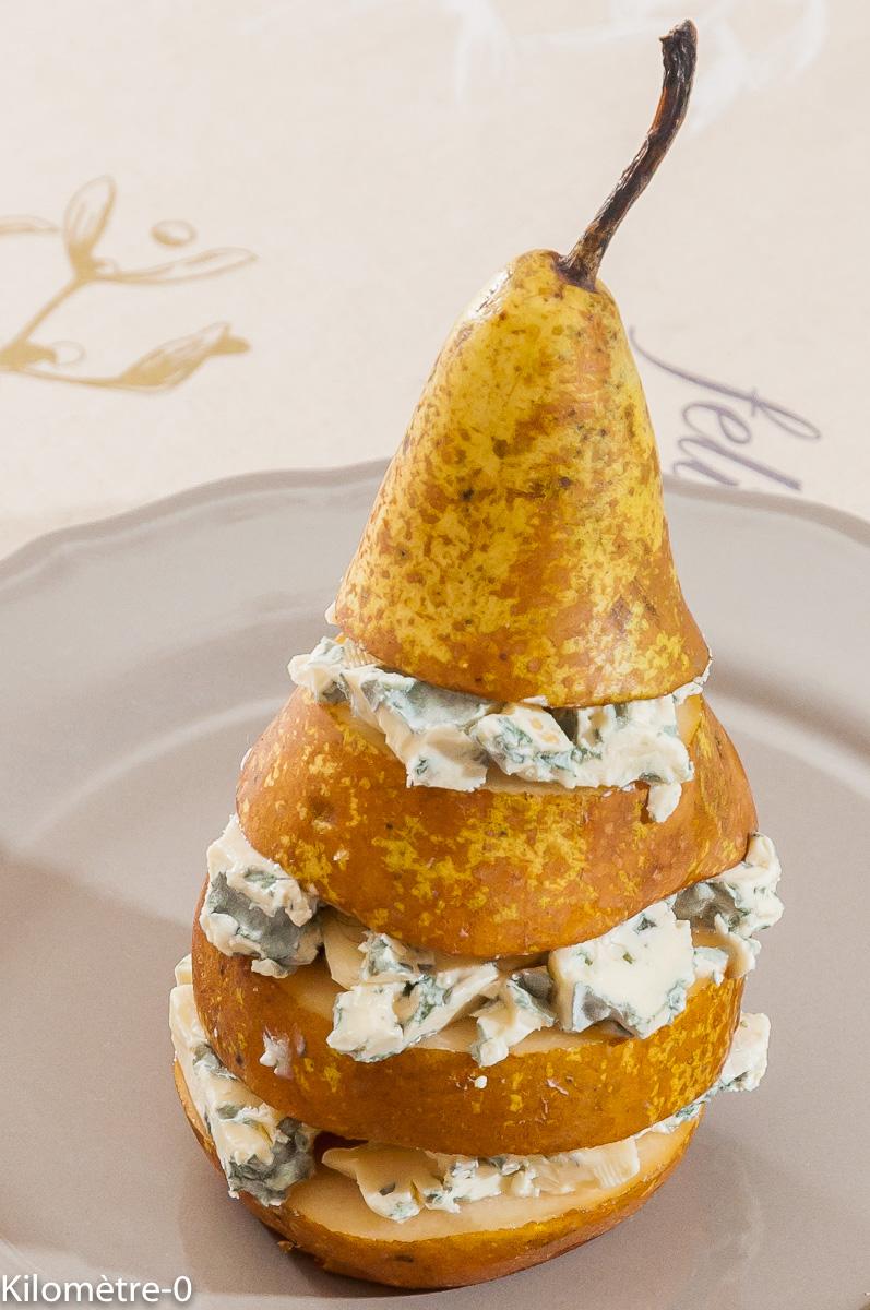 Photo de recette de poire, fourme d'Ambert de Kilomètre-0, blog de cuisine réalisée à partir de produits locaux et issus de circuits courts